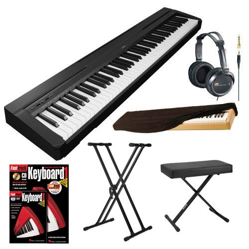 yamaha 88 key keyboard. yamaha p series p35b 88-key digital piano (black) plus accessory bundle 88 key keyboard