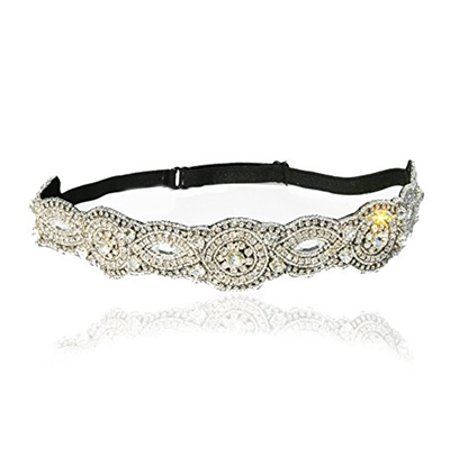 Bridal Crystal Rhinestone Diamond Headband Adjustable Non-slip Comfortable for - Diamond Headband