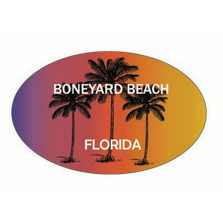 Boneyard Beach Florida Trendy Souvenir Oval Decal