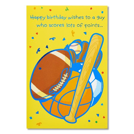 Sports Birthday Card For Him With Foil Walmart