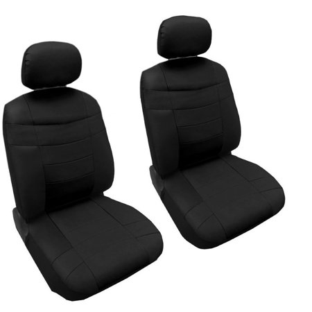 Premium Synthetic PU Faux Leather Seat Cover Set Solid Black Pc - Acura tl leather seats