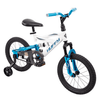 "Huffy 16"" DS 1600 Boys' Bike for Kids with EZ Build, White"