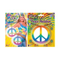 Peace Sign Hippie Womens Costume Jewelry Accessory Kit
