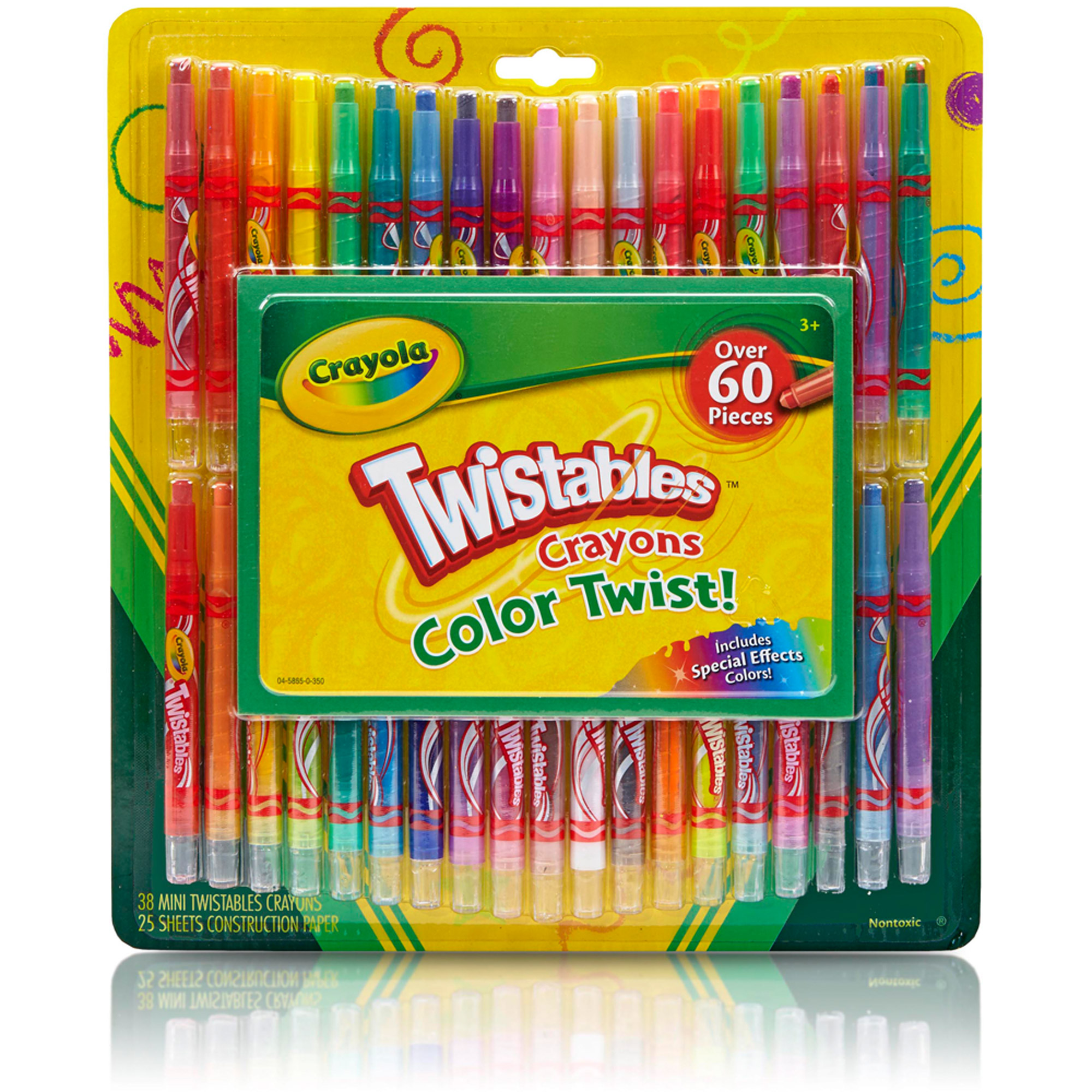 Crayola 04-5865 Twistable Crayons & Paper Toy (60 Piece)  (Open Box)