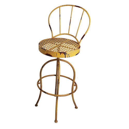Attraction Design Home Nostalgia Swivel Patio Dining Chair