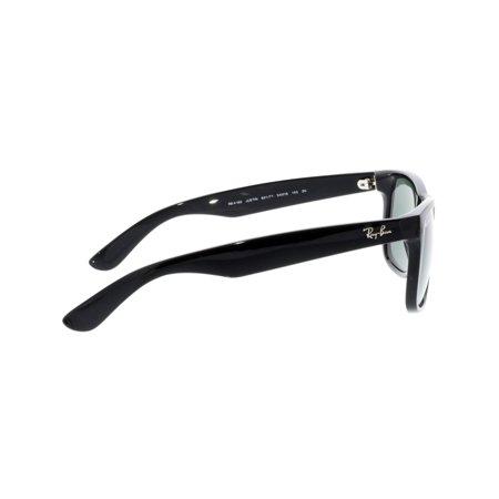 ad48f3c23 Ray-Ban Justin RB4165-601/71-54 Black Rectangle Sunglasses | Walmart ...
