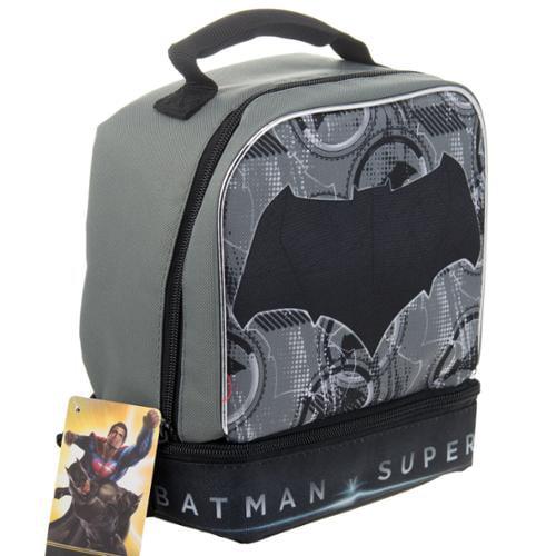 Superhero Disney Matchbox Kids Insulated 2-Section Padded Lunch Bags Lunchbox Batman