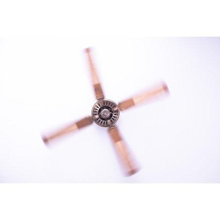 Propeller Fan - Framed Art for Your Wall Metal Ceiling Fan Air Blow Cooling Fan Propeller 10x13 Frame