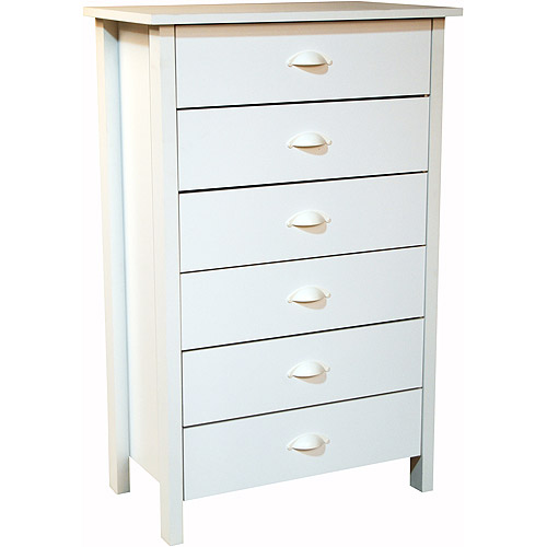 Awesome Nouvelle 6 Drawer Dresser, White