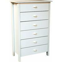 Nouvelle 6-Drawer Dresser, White