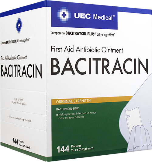 UEC Medical Antibiotic Ointment 0.9 g NBE Bacitraycin 144 ct.