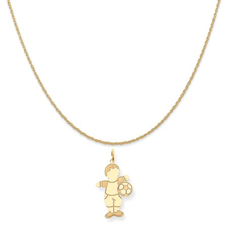 754f4e14922e5 14k Yellow Gold Cuddle Charm on a 14K Yellow Gold Rope Chain Necklace, 18