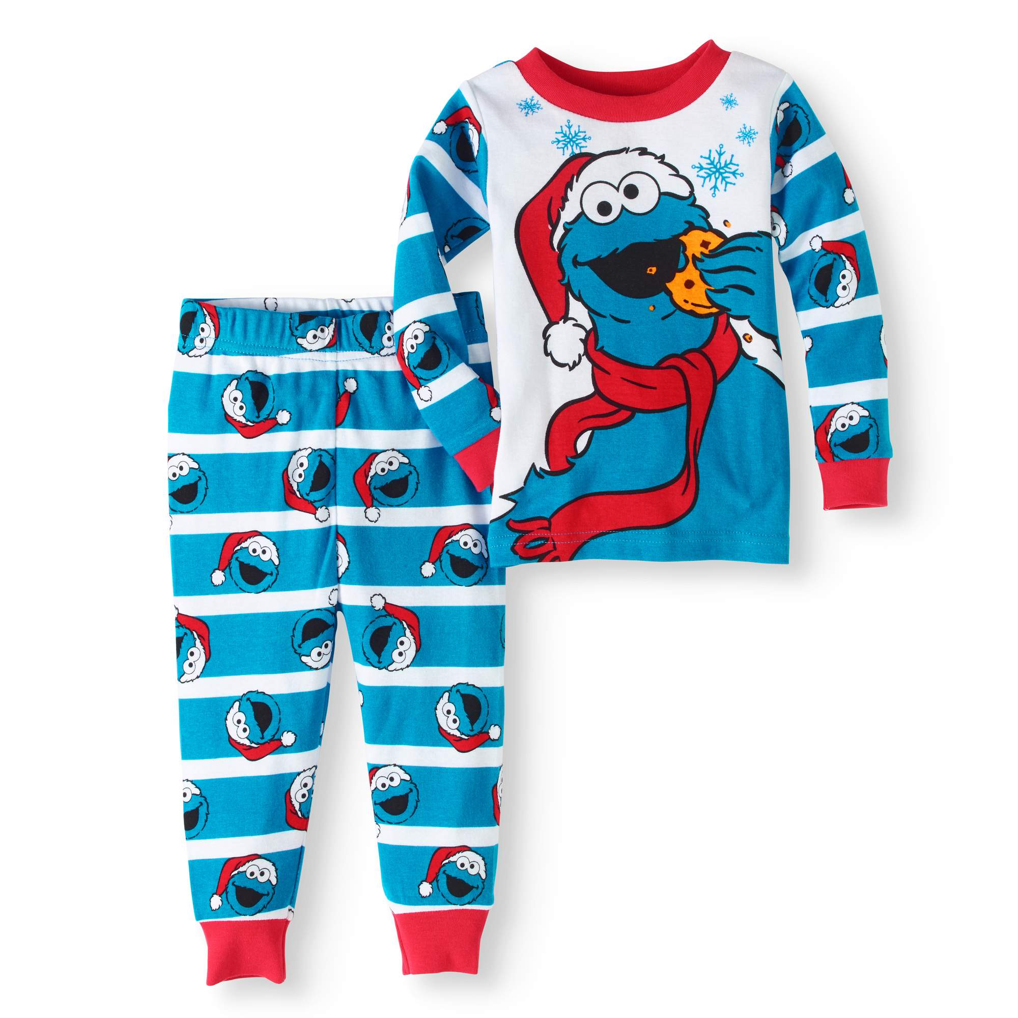 c77742e5815a Christmas Newborn Baby Boys  Cotton Tight Fit Pajamas 2-Piece Set ...
