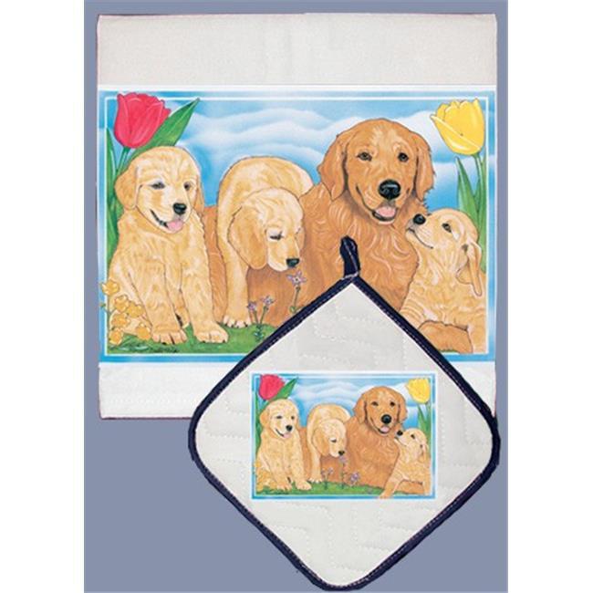 Pipsqueak Productions DP484 Golden Retriever Dish Towel A...