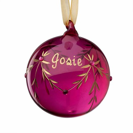 Personalized Glass Christmas Ornament - July Birthstone