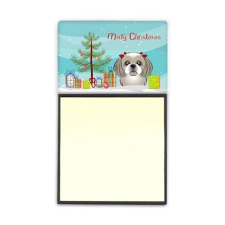 Carolines Treasures BB1622SN Christmas Tree & Gray Silver Shih Tzu Sticky Note Holder - image 1 of 1