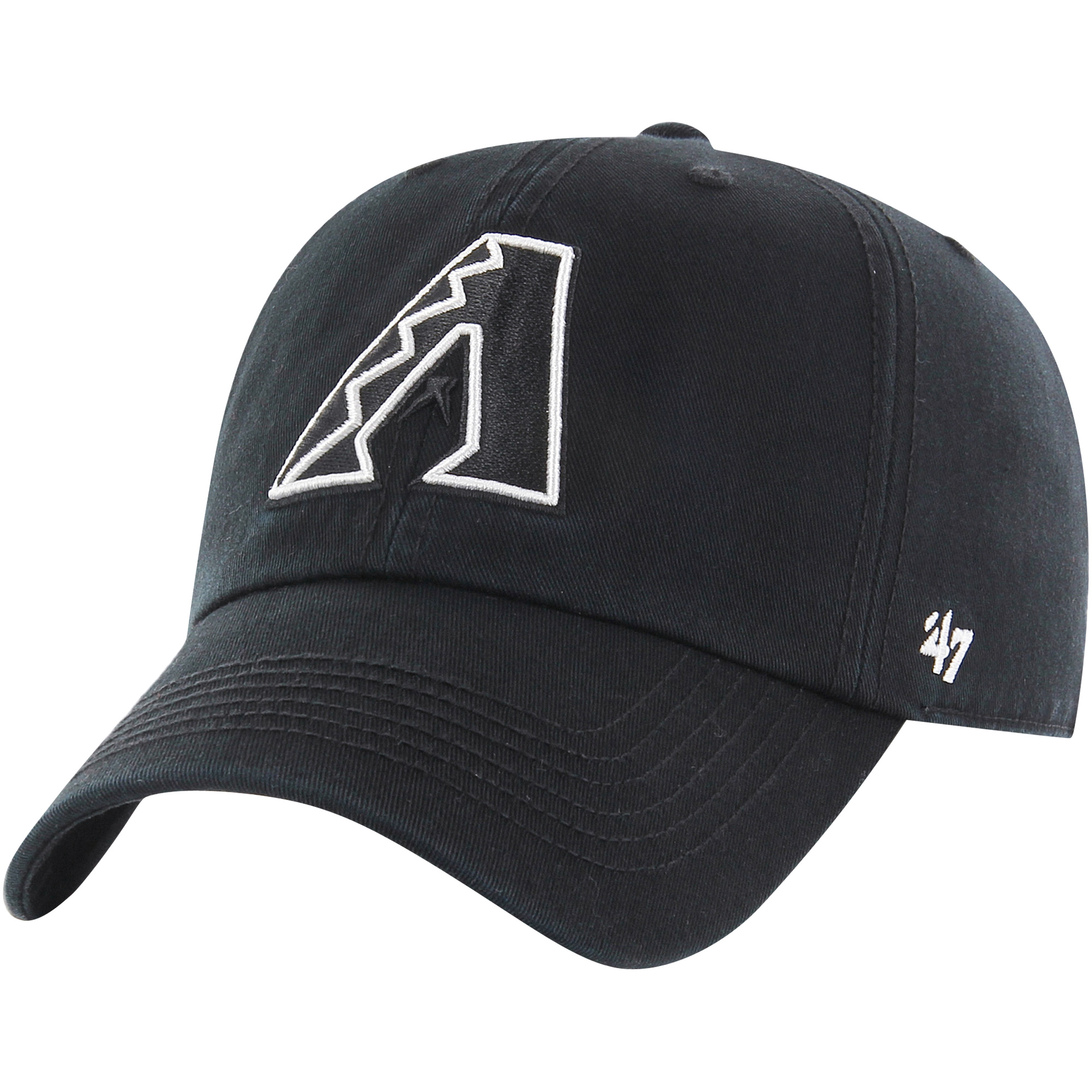 Arizona Diamondbacks '47 Black Out Franchise Fitted Hat - Black