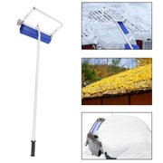 Ktaxon 20FT Roof Snow Rake Wheeled Removal Tool with Wide Head Cutter&Slide Snow Clean