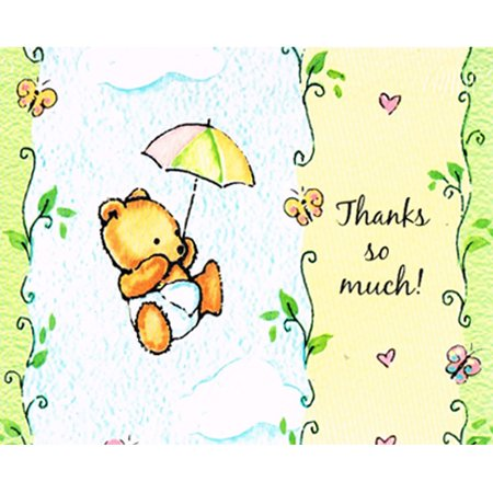 Baby Shower 'A Gift From Above' Thank You Notes w/ Envelopes (8ct) - Baby Shower Thank You Gifts For Guests