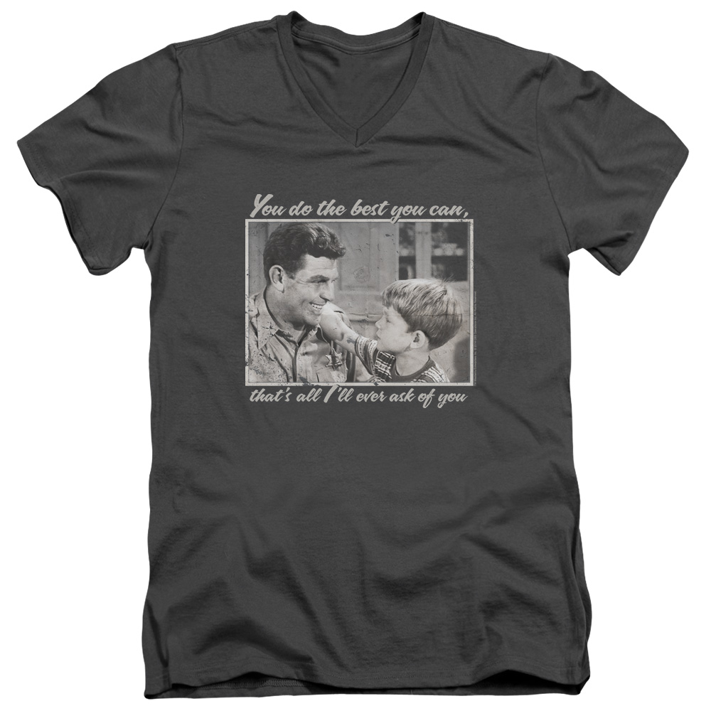 The Andy Griffith Show Wise Words Mens V-Neck Shirt