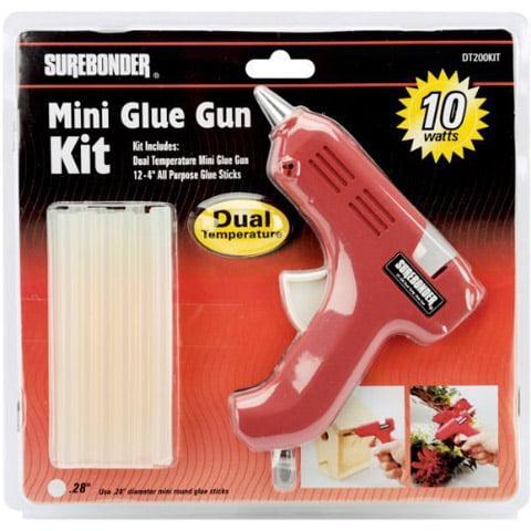 Surebonder Mini Glue Gun Kit. 12 Sticks