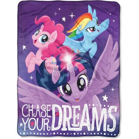 Hasbros My Little Pony   Chase Your Dreams   46   X 60   Micro Raschel Throw
