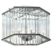 Dainolite 4 Light Crystal Semi Flush - Polished Chrome