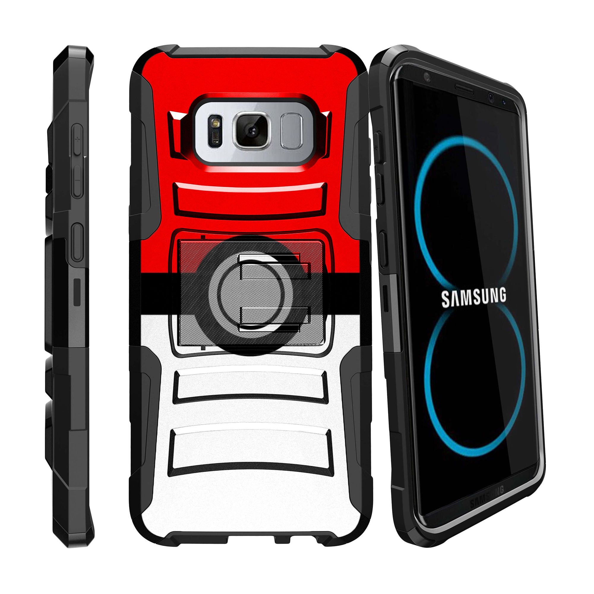 Case for Samsung Galaxy S8 | S8 Holster Case  [ Clip Armor ] Heavy Duty Case with Belt Clip & Kickstand Comic Collection