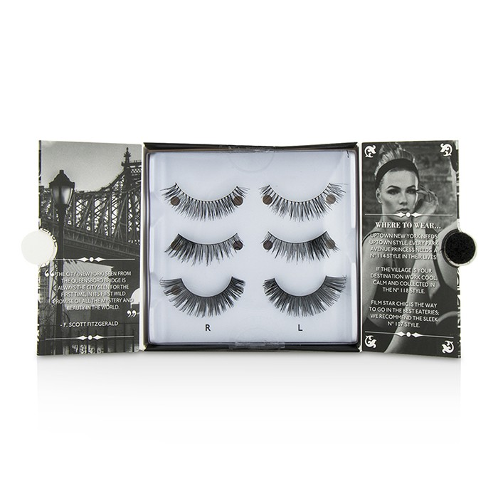 Eylure - The New York Edit False Lashes Multipack - # 114, # 118, # 107 (Adhesive Included) -3pairs