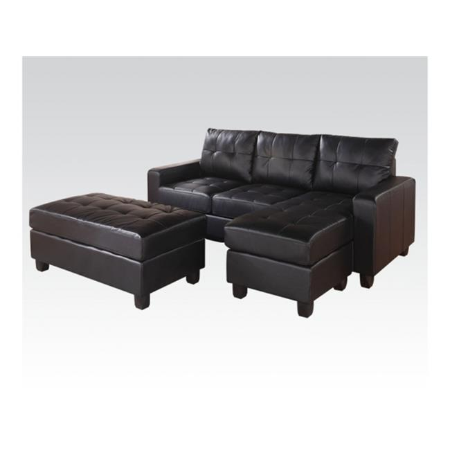 Acme Furniture 51215 Living Room Reversible Sectional And Ottoman