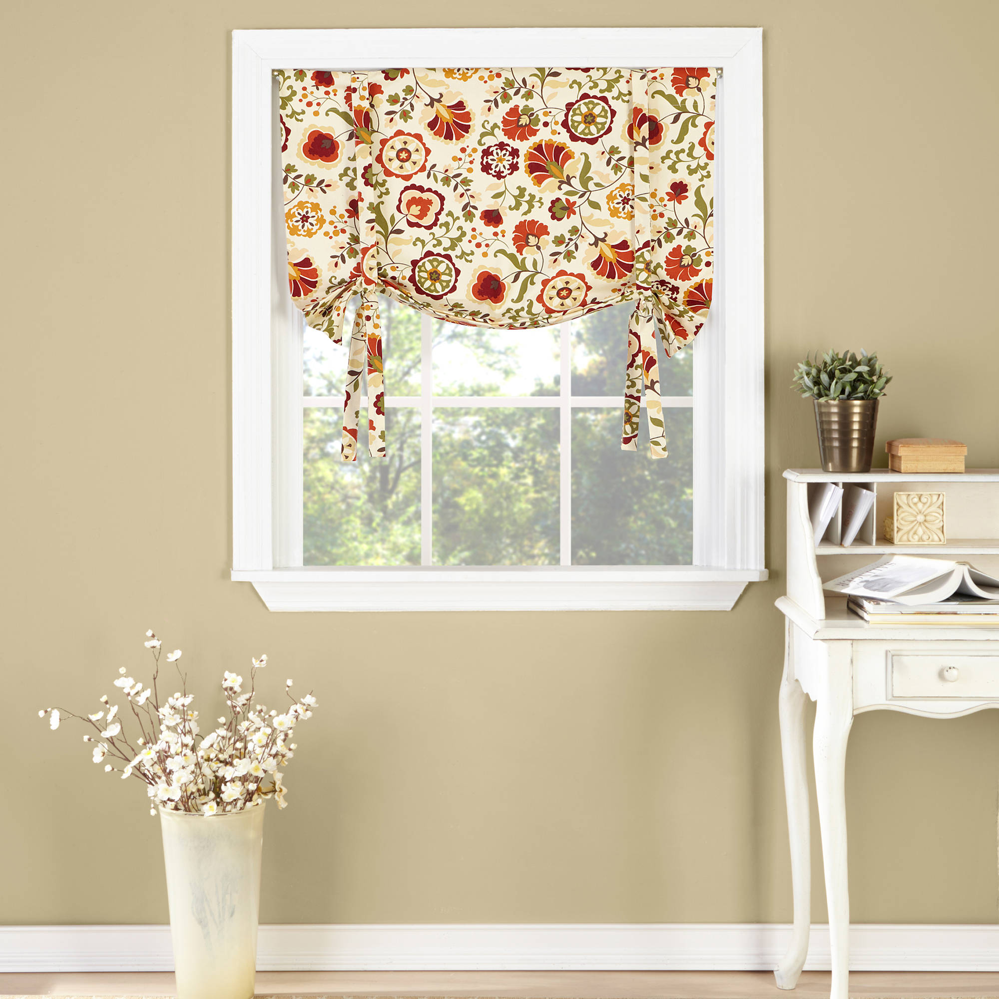 "Belle Maison USA, LTD. Daphne Tie-Up Drape Shade Valance 33"" x 29"" by Belle Maison USA, LTD."
