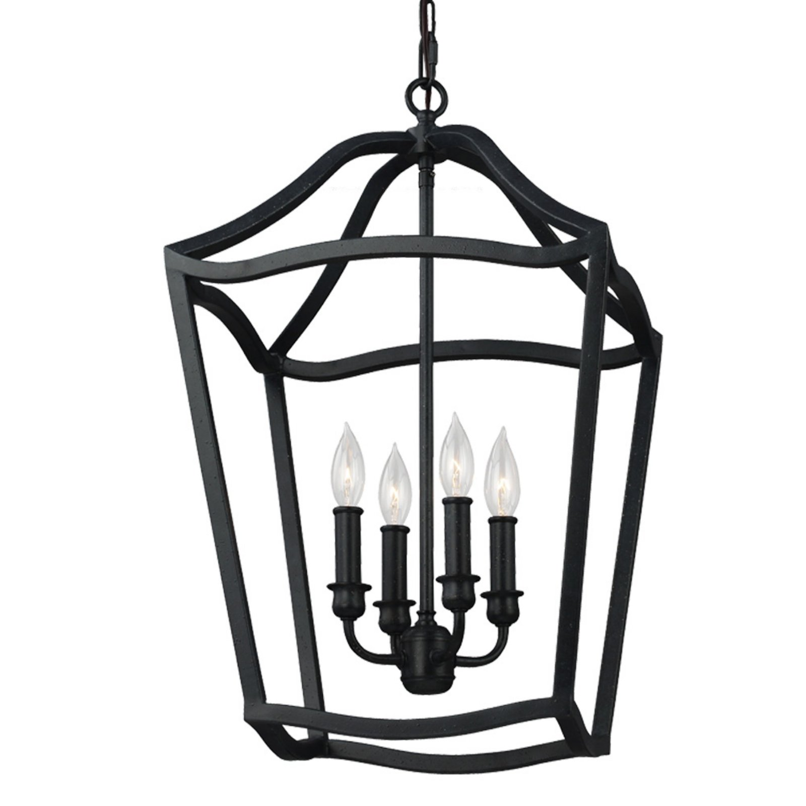 Feiss Yarmouth F2975/4 4 Light Caged Chandelier