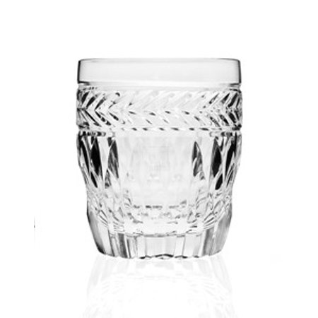 24% Lead Crystal Glass - Symphony 8 oz. Leaded Crystal Double Old Fashioned Whiskey Glasses, Set of 4