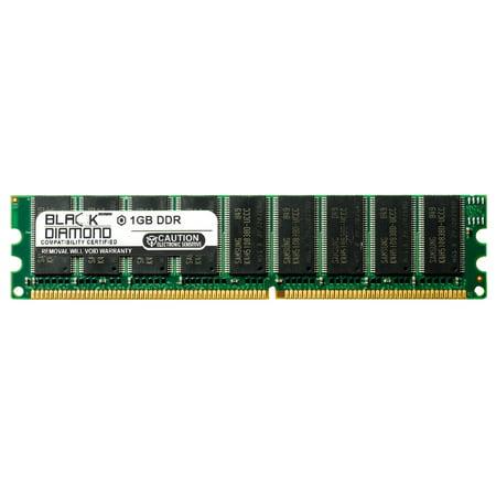 1GB RAM Memory for Gateway 9000 Series 9210 Server 184pin PC3200 DDR UDIMM 400MHz Black Diamond Memory Module Upgrade