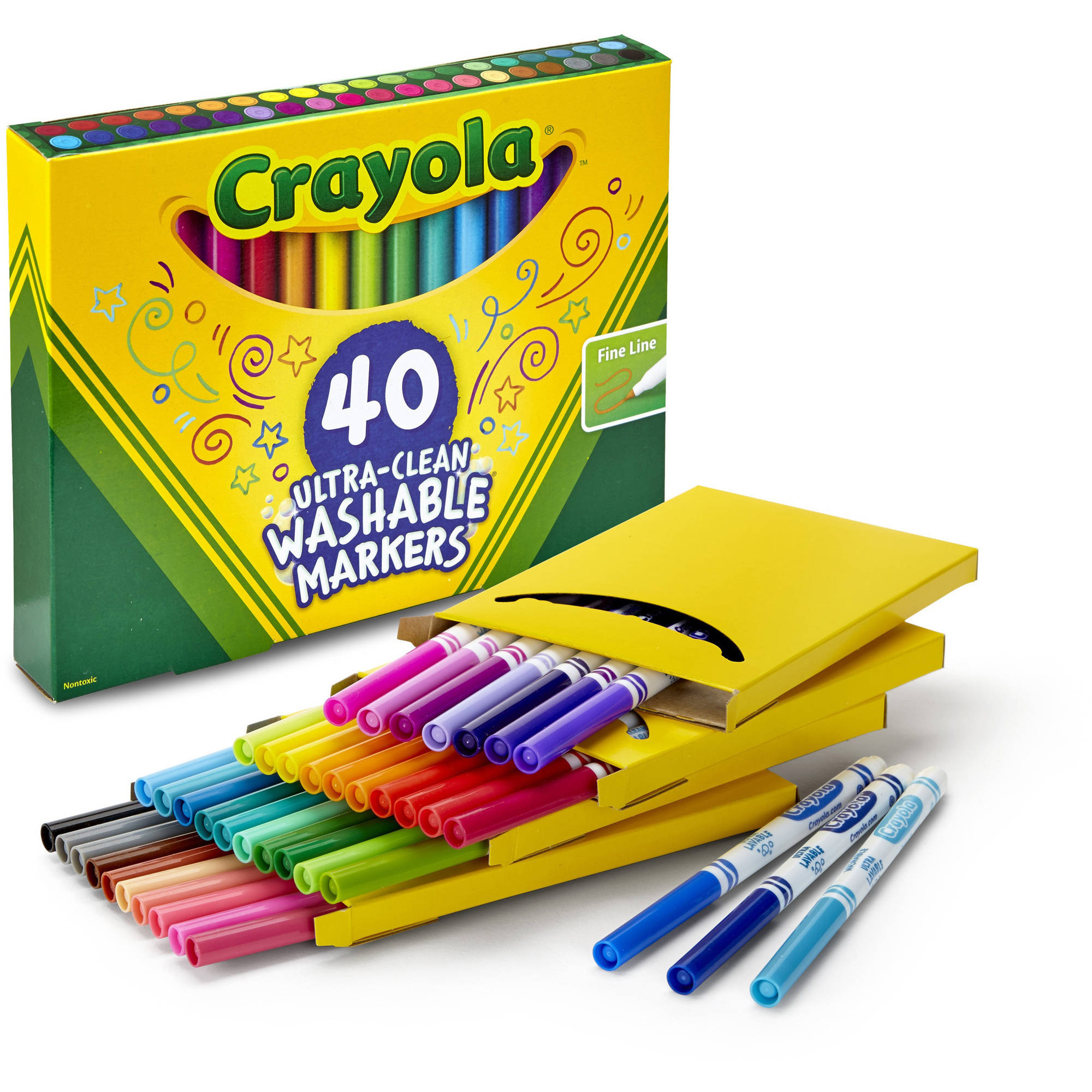 40-Count Crayola Fineline Ultra-Clean Markers