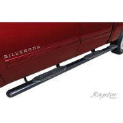 "Raptor Series 07-15 Chevy Silverado/GMC Sierra 1500 Crew Cab (5.8' Bed) 5"" Black W2W Oval Steps (Rocker Panel Mount)"