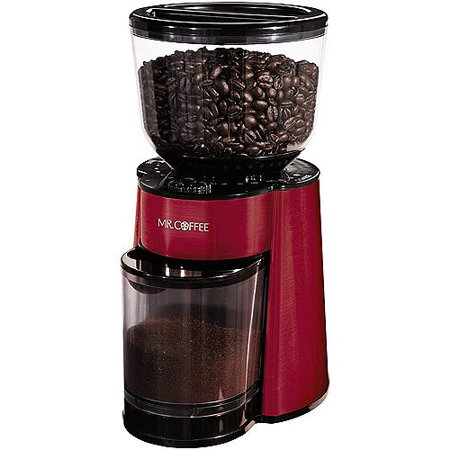 Mr. Coffee Burr Mill Grinder, Red, BVMC-BMH26