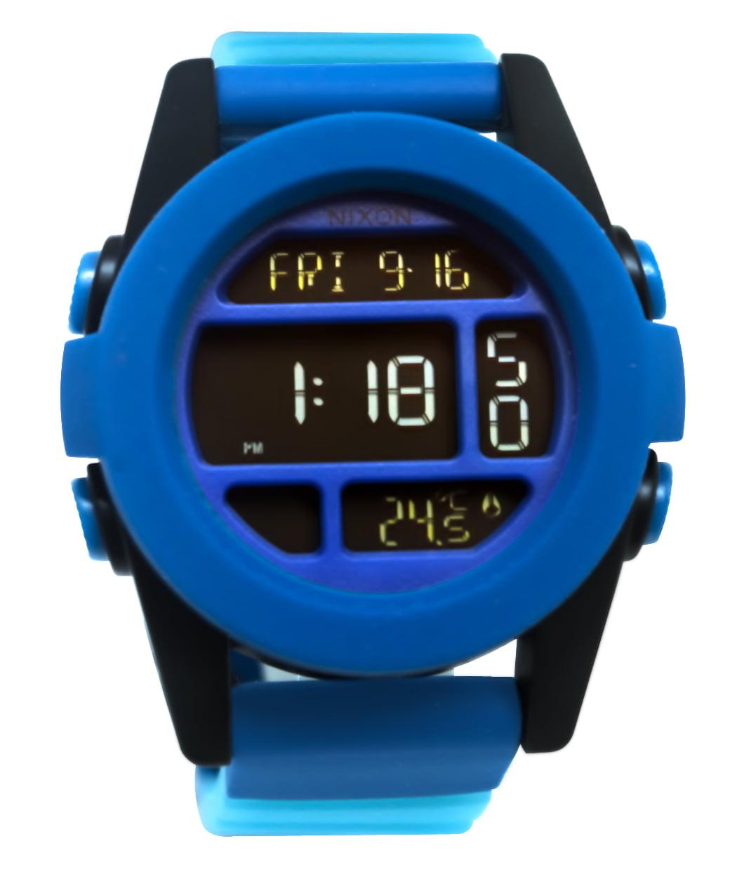 A1972212 Unit Blue Fade Digital Silicone Watch New