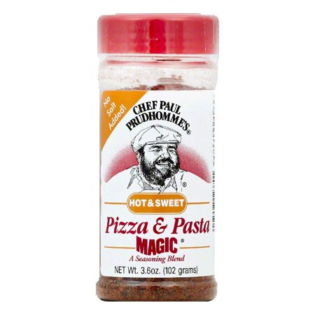 - Chef Paul Prudhommes Hot & Sweet Pizza & Pasta Seasoning Blend, 3.6 OZ (Pack of 12)