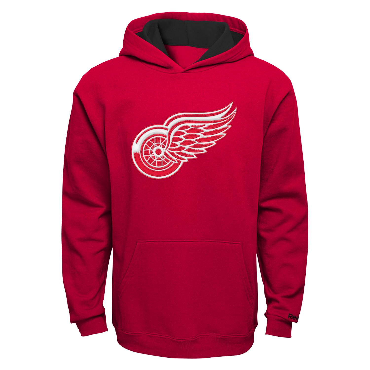 "Detroit Red Wings Youth NHL Reebok ""Primary"" Hooded Sweatshirt"