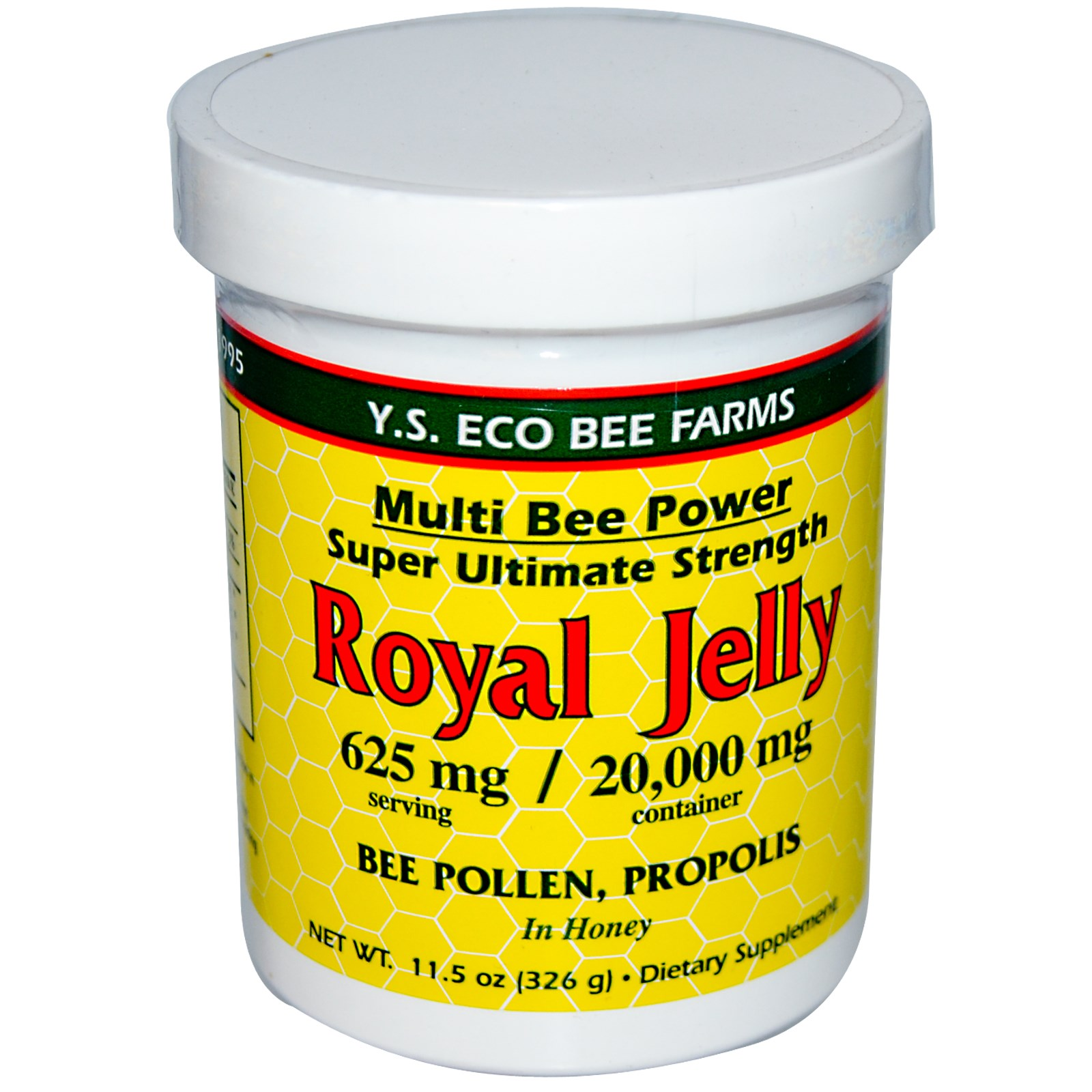 Y.S. Eco Bee Farms, Royal Jelly, 11.5 oz(pack of 6)