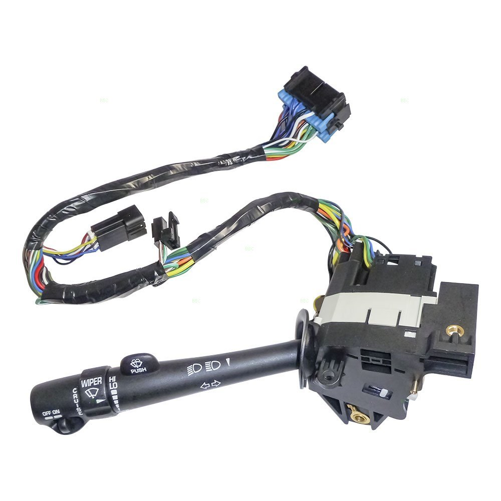 Aftermarket Replacement Turn Signal Switch Cruise Control Windshield Wiper /& Brights Lever Compatible with 2000-2005 Impala Monte Carlo 88964580