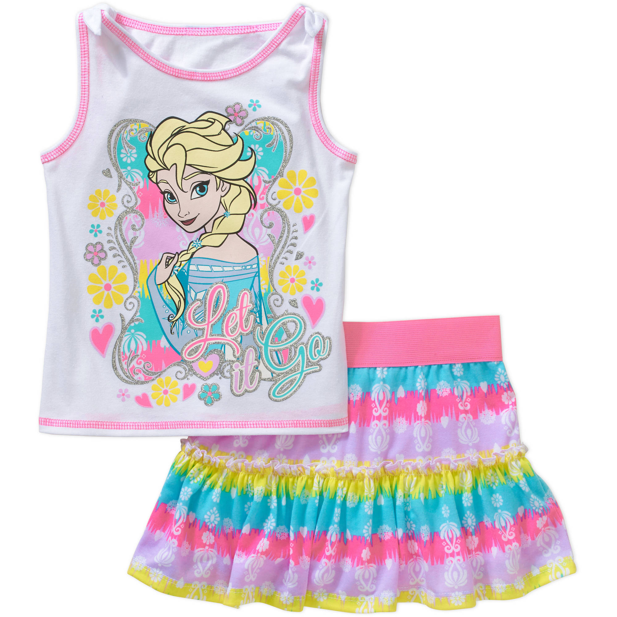 Disney Frozen Baby Toddler Girl Tank and Skirt Outfit Set