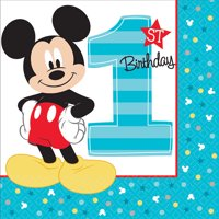 Mickey Mouse First Birthday Party Supplies 48 Pack Lunch Napkins
