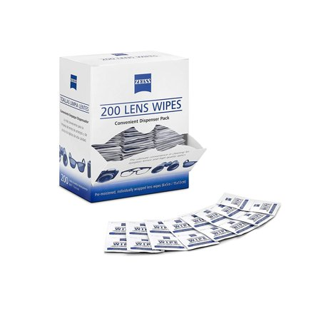 Zeiss Pre-Moistened Lens Cloths Wipes 200 Ct, Glasses Camera Cleaning, New (Carl Zeiss Sonnenbrille)