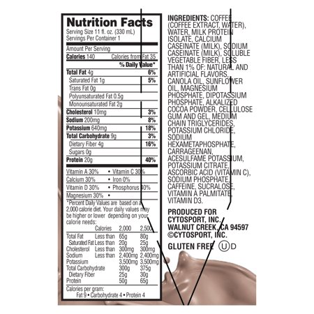 Muscle Milk Coffee House, Mocha Latte Non Dairy Protein Shake, 11 oz Bottles, 4 Count