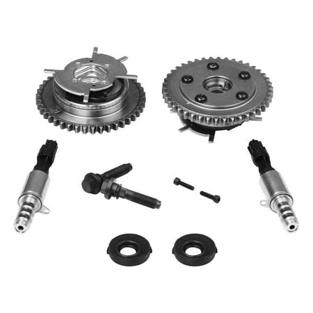 Variable Camshaft Timing Cam Phaser Kit - Replaces# 3R2Z6A257DA, 917-250, 3L3Z 6279-DAP, 8L3Z-6M280-B - Fits Ford F-150, Expedition & more - Triton 5.4L, 4.6L 3V Engines - Sprockets, Bolts & Solenoids