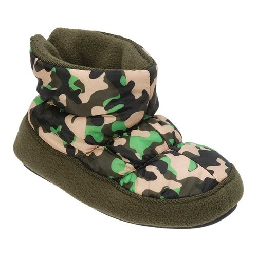 boys' dearfoams camo bootie slipper
