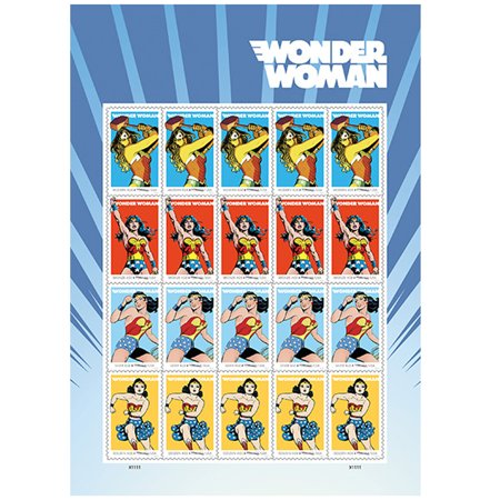 Wonder Woman 10 Sheets of 20 USPS Forever First Class Postage Super Hero Justice Equality Peace Wedding Announcment (200 Stamps) (Superhero Wedding)