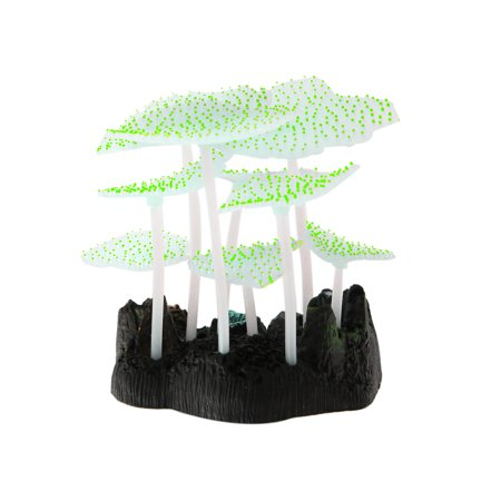 Yellow Sea Anemone Glowing Effect Artificial Coral Plant for Aquarium Decor Tank - image 3 of 4